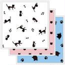 黒猫が飛び交う♪ネコ柄♪マイクロファイバー・ディッシュクロス☆柄違い☆3枚セット【送料無料】