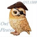 OWL(フクロウ)パイレーツ(置物)☆代引き不可・沖縄、離島は追加500円☆問屋直送品です。