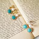 【turquoise of grain pearl】ピアス&イヤリング