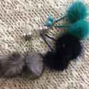 【Pearl & Mink Fur】ピアス&イヤリング