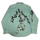 Supreme Rose L/S Work Shirt Khaki M 18AW 【中古】