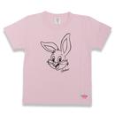 BIG  FACE  RABBITS  T-Shirts  PINK