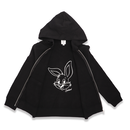 IN  PRINT ZIPUP  HOODIE  RABBIT  FACE ラビット ジップ パーカー