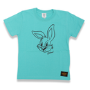 BIG  FACE  RABBITS  T-Shirts  GREEN