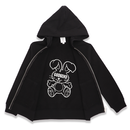 IN  PRINT ZIPUP  HOODIE  SOFT  TOY ヌイグルミ ジップ パーカー
