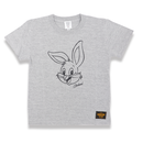 BIG  FACE  RABBITS  T-Shirts  GRAY