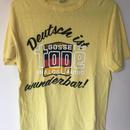 ゴセットテープロゴTシャツ(イエロー&ホワイト)