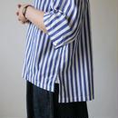 UNIVERSAL TISSU ユニヴァーサルティシュ|タイプライターラッフルタックスリーブシャツ|ネイビー  |  UT181SH003
