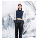 CATCOPY  「fake  leather  pants」