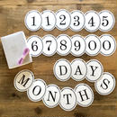 Number & MONTH DAYS Garland Set