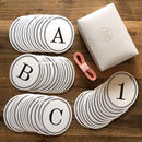 Alphabet & Number Garland Set * 55 Letters