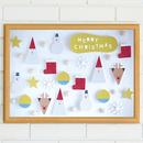 【最終受付】 クリスマスポスター  Tiny Santa&Friends WHITE