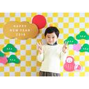 【最終受付】 おうち写真館 市松 Mサイズ(縦841 × 横1189 mm)