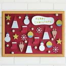 ★数量&期間限定  クリスマスポスター  Tiny Santa&Friends RED