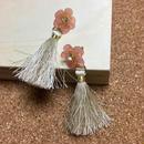お花タッセルピアス