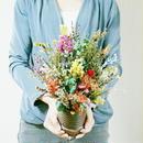『カラフル 詰め合わせ フラワーアレンジメント mix10052』色とりどりのいろんなお花が楽しめる