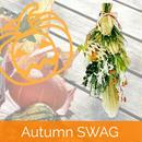 実りの秋スワッグ ogn1 ハロウィンの飾りやギフトに