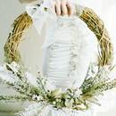 『白いお花のリースブーケ white』挙式後はインテリアにも