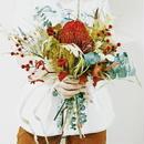 『インスタで好評 プリザーブドフラワーの花束natural red112』母の日や目上の人へのプレゼントにおすすめ