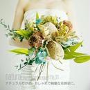 再販『結婚式に ナチュラルなプリザーブドフラワーのブーケ No.01』ドライフラワーのブーケをお探しの方にもおすすめ