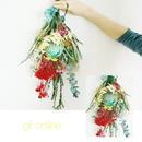 『数量限定 鮮やかなお花のスワッグ blue pink red 01037』お祝いや誕生日の花としても