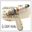 GRIM Cigarette Cover SV925 with Stone