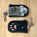 CAT PAW PASS CASE_fluffy_black_Okinawa