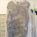 SHIROMA 15-16A/W ghost jacquard high-necked sweater -gray-