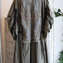 SHIROMA 16-17A/W DARK AGES silk spindle coat -khaki-