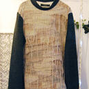 SHIROMA 15-16A/W ghost jacquard high-necked sweater -beige-
