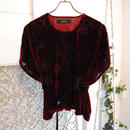 SHIROMA 17-18A/W Female punks embroidery velvet top