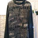 SHIROMA 15-16A/W ghost jacquard high-necked sweater -black-