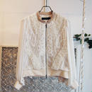 SHIROMA 16-17A/W DARK AGES silk blouson -white-