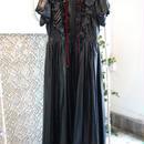 SHIROMA 17-18A/W Female punks nylon puff sleeve dress -black-