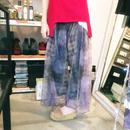 40%OFF!!!! SHIROMA 16S/S chase the unknown tulle flared pants -parple-