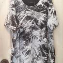 SHIROMA 15S/S PRIMITIVE ACTION big Tshirts -black×white-