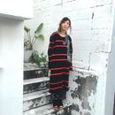 60%OFF!!! Yan na Maury chunky rib dress -red-