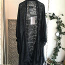 SHIROMA 16S/S chase the unknown nylon Jacquard stole cardigan