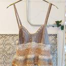 Ondev knit camisole -gray×beige-