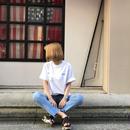 英字ロゴTシャツ/ホワイト
