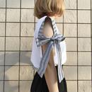 サイドリボンTシャツ/ホワイト