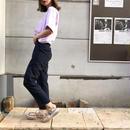 英字ロゴTシャツ/パープル