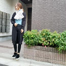 side slit roll knit cardigan