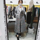gun club check long coat