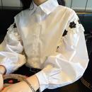 フラワーレースシャツ