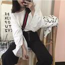 スリットスリーブシャツ ホワイト