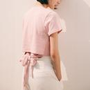 バックリボンシンプルシャツ ピンク