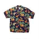 AVANTI ALOHA SHIRTS -  PA'U RIDER  silk aloha shirt -  M size