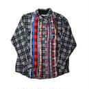 Rebuild By Needles (リビルドバイニードルズ) Ribbon Flannel Shirt BLACK - size M -