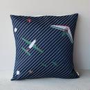 (no pattern backside) snip snap SKY cushion cover | night glider 裏面無地